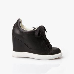 See By Chloe Leather Wedge Sneaker
